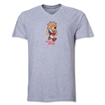 1966 FIFA World Cup Willie Mascot V-Neck T-Shirt (Grey)