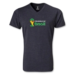 2014 FIFA World Cup Brazil(TM) Landscape Emblem V-Neck T-Shirt (Heather Gray)