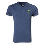 2014 FIFA World Cup Brazil(TM) Event Emblem V-Neck T-Shirt (Heather Navy)