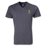 2014 FIFA World Cup Brazil(TM) Event Emblem V-Neck T-Shirt (Dark Gray)