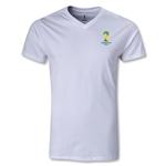 2014 FIFA World Cup Brazil(TM) Event Emblem V-Neck T-Shirt (White)