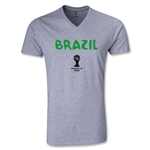 Brazil 2014 FIFA World Cup Brazil(TM) Core V-Neck T-Shirt (Gray)