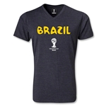 Brazil 2014 FIFA World Cup Brazil(TM) Core V-Neck T-Shirt (Heather Gray)