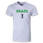 Brazil 2014 FIFA World Cup Brazil(TM) Core V-Neck T-Shirt (White)