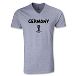 Germany 2014 FIFA World Cup Brazil(TM) Men's Core V-Neck T-Shirt (Grey)