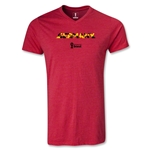 Germany 2014 FIFA World Cup Brazil(TM) Men's Palm V-Neck T-Shirt (Heather Red)