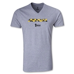 Germany 2014 FIFA World Cup Brazil(TM) Men's Palm V-Neck T-Shirt (Grey)