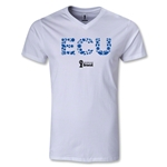 Ecuador 2014 FIFA World Cup Brazil(TM) Men's Elements V-Neck T-Shirt (White)