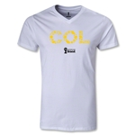Colombia 2014 FIFA World Cup Brazil(TM) Men's Elements V-Neck T-Shirt (White)