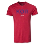 South Korea 2014 FIFA World Cup Brazil Men's Elements V-Neck T-Shirt (Heather Red)