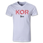 South Korea 2014 FIFA World Cup Brazil Men's Elements V-Neck T-Shirt (White)