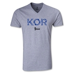 South Korea 2014 FIFA World Cup Brazil Men's Elements V-Neck T-Shirt (Gray)