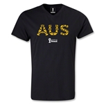 Australia 2014 FIFA World Cup Brazil Men's Elements V-Neck T-Shirt (Black)