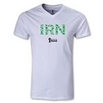 Iran 2014 FIFA World Cup Brazil Men's Elements V-Neck T-Shirt (White)
