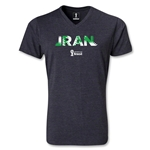 Iran 2014 FIFA World Cup Brazil Men's Palm V-Neck T-Shirt (Heather Grey)