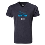 2014 FIFA World Cup Brazil(TM) All In One Rhythm V-Neck T-Shirt (Heather Gray)