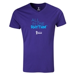 2014 FIFA World Cup Brazil(TM) All In One Rhythm V-Neck T-Shirt (Purple)
