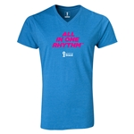 2014 FIFA World Cup Brazil(TM) All In One Rhythm V-Neck T-Shirt (Heather Turquoise)