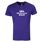 2014 FIFA World Cup Brazil(TM) Logotype V-Neck T-Shirt (Purple)
