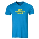 2014 FIFA World Cup Brazil(TM) Logotype V-Neck T-Shirt (Turquoise)