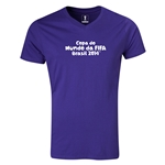 2014 FIFA World Cup Brazil(TM) Portugese Logotype V-Neck T-Shirt (Purple)