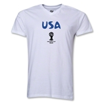 USA 2014 FIFA World Cup Brazil(TM) Men's Core V-Neck T-Shirt (White)