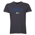 USA 2014 FIFA World Cup Brazil(TM) Men's Elements V-Neck T-Shirt (Heather Grey)