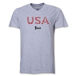 USA 2014 FIFA World Cup Brazil(TM) Men's Elements V-Neck T-Shirt (Grey)