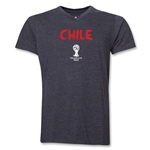 Chile 2014 FIFA World Cup Brazil(TM) Men's Core V-Neck T-Shirt (Dark Grey)