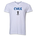 Chile 2014 FIFA World Cup Brazil(TM) Men's Core V-Neck T-Shirt (White)