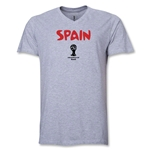 Spain 2014 FIFA World Cup Brazil(TM) Men's Core V-Neck T-Shirt (Grey)