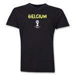 Belgium 2014 FIFA World Cup Brazil(TM) Men's Core V-Neck T-Shirt (Black)