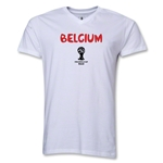Belgium 2014 FIFA World Cup Brazil(TM) Men's Core V-Neck T-Shirt (White)