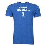 Bosnia-Herzegovina 2014 FIFA World Cup Brazil(TM) Men's Core V-Neck T-Shirt (Heather Royal)