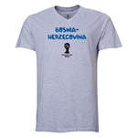 Bosnia-Herzegovina 2014 FIFA World Cup Brazil(TM) Men's Core V-Neck T-Shirt (Grey)