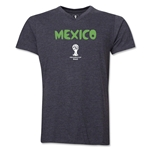 Mexico 2014 FIFA World Cup Brazil(TM) Men's Core V-Neck Core T-Shirt (Dark Gray)