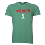 Mexico 2014 FIFA World Cup Brazil(TM) Men's Core V-Neck Core T-Shirt (Heather Green)