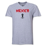 Mexico 2014 FIFA World Cup Brazil(TM) Men's Core V-Neck Core T-Shirt (Gray)