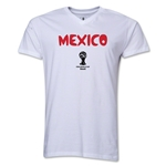 Mexico 2014 FIFA World Cup Brazil(TM) Men's Core V-Neck Core T-Shirt (White)