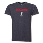 England 2014 FIFA World Cup Brazil(TM) Men's Core V-Neck Core T-Shirt (Dark Grey)
