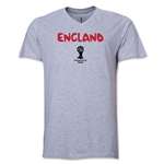 England 2014 FIFA World Cup Brazil(TM) Men's Core V-Neck Core T-Shirt (Grey)