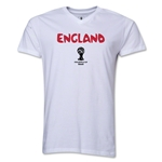 England 2014 FIFA World Cup Brazil(TM) Men's Core V-Neck Core T-Shirt (White)