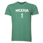 Nigeria 2014 FIFA World Cup Brazil(TM) Men's Core V-Neck Core T-Shirt (Heather Green)