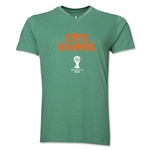 Cote d'Ivoire 2014 FIFA World Cup Brazil(TM) Men's Core V-Neck Core T-Shirt (Heather Green)