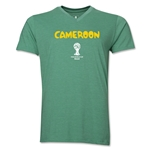 Cameroon 2014 FIFA World Cup Brazil(TM) Men's Core V-Neck Core T-Shirt (Heather Green)
