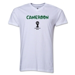 Cameroon 2014 FIFA World Cup Brazil(TM) Men's Core V-Neck Core T-Shirt (White)