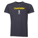 Cameroon 2014 FIFA World Cup Brazil(TM) Men's Core V-Neck Core T-Shirt (Dark Grey)