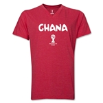 Ghana 2014 FIFA World Cup Brazil(TM) Men's Core V-Neck Core T-Shirt (Heather Red)
