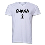 Ghana 2014 FIFA World Cup Brazil(TM) Men's Core V-Neck Core T-Shirt (White)