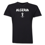 Algeria 2014 FIFA World Cup Brazil(TM) Men's Core V-Neck Core T-Shirt (Black)